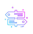 direction board icon design vector image vector image