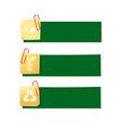 Eco icon ad tag ribbon banner eps10 002 vector image vector image