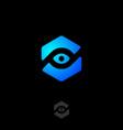 eye icon web tracking monitoring logo view webcam vector image vector image