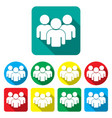group people icons set teamwork vector image vector image