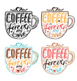 Hand drawn vintage quote for coffee themedCoffee vector image vector image