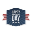 Happy Memorial Day Holiday Banner vector image vector image