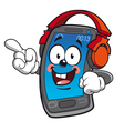 happy smartphone vector image vector image