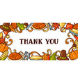 happy thanksgiving day invitation with holiday vector image vector image