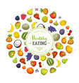 healthy eating with fruits background vector image