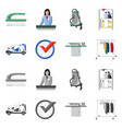 isolated object of laundry and clean sign set of vector image vector image