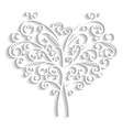 lacy tree in the form of heart vector image vector image