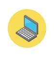 Laptop Isometric Icon Design Flat vector image vector image