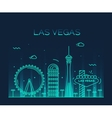 Las Vegas skyline linear vector image vector image