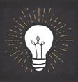 light bulb symbol vintage label grunge textured vector image