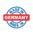 made in germany emblem flat vector image vector image