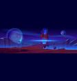 magic portal on alien planet space landscape vector image