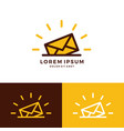 mail logo download vector image vector image