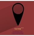 map pointers Flat modern web button with long vector image