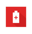 medical bottle icon vector image vector image