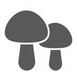 mushroom glyph icon food and vegetarian vector image