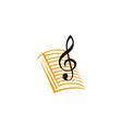 music education logo design template vector image vector image