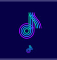 music multi colored logo note vector image vector image