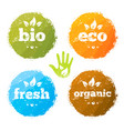 organic eco food creative rough design concept vector image vector image