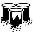 paint bucket icon vector image vector image