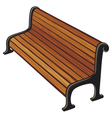 park bench vector image vector image