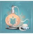 Perfume pump bottle vector image vector image