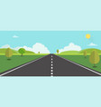 road to nature backgroud vector image vector image