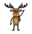 rudolf christmas cartoon vector image