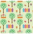 Seamless pattern with blooming vector image vector image