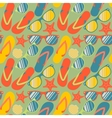 Seamless pattern with flip flops sunglasses and vector image vector image