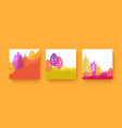 set bright autumn banners with leaves and layered vector image