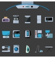 Set of household appliances flat icons vector image vector image