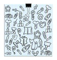 set of paper clips of various shapes vector image