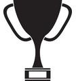 silhouette trophy award sport win sport vector image vector image