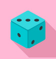 small dice icon flat style vector image