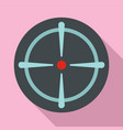 sniper sight icon flat style vector image vector image