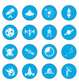 space icon blue vector image vector image
