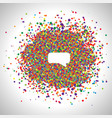speech bubble made by colorful dots vector image