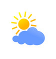 sunny cloud daylight weather forecast icon symbol vector image