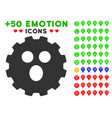 surprized smiley gear icon with bonus emotion vector image