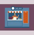 take away food flat vector image vector image