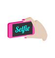 taking selfie photo on smartphone symbol flat vector image vector image