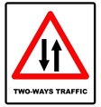triangle traffic sign for vector image vector image