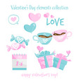 valentines day elements collection vector image
