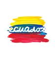watercolor ecuador flag vector image vector image