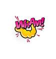 wham comics pop art half tone cartoon bubble icon vector image