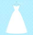 white bridal dress on hanger fashion vector image vector image