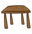 wooden table on white background vector image vector image