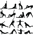 yoga silhouette vector image