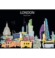 London Skyline abstract vector image